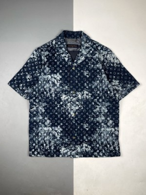 1v 21ss 树藤牛仔短袖衬衫