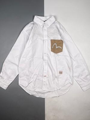Evisu/福神 21Fw 大M海鸥刺绣长袖衬衫