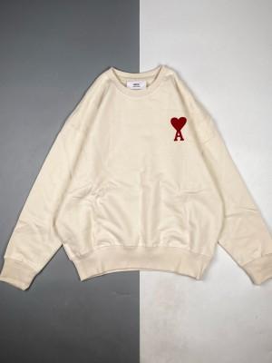Alexandre Mattiussi 21ss 红爱心标志刺绣长袖圆领卫衣