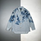 【康丽印花+防尘袋包装】 1v 21Fw 水墨老花徽标印花长袖衬衫