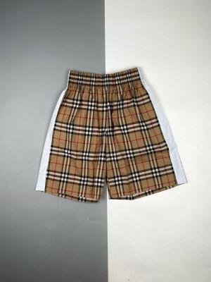 Burberry/博柏利 21ss 经典Vintage格子拼接白边短裤