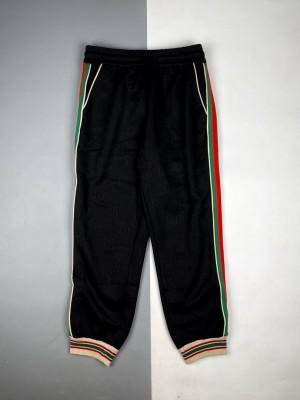 Gucci/古驰 21Fw 暗纹Logo织带长裤