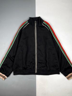 Gucci/古驰 21Fw 暗纹Logo织带长袖外套