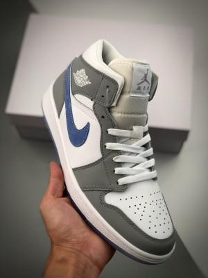 Air Jordan 1 Mid 灰蓝中邦 中帮系列