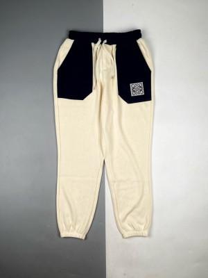 LOEWE罗意威大口袋龙猫拼色刺绣休闲长裤