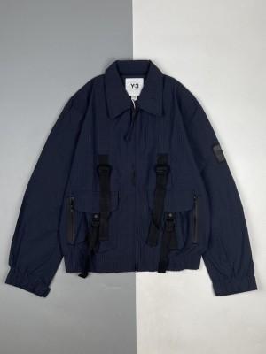Y-3/山本耀司 21Fw 飞行员式泡泡纱翻领夹克