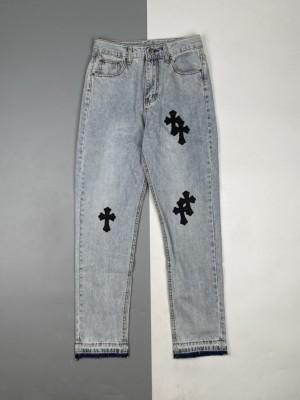 Chrome Hearts/克罗心 21Fw 十字架贴皮牛仔裤