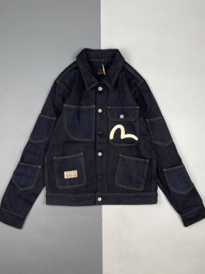 Evisu/福神 21Fw 海鸥印花多口袋牛仔外套夹克