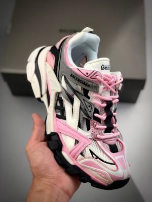 BALENCIAGA Track 2 Sneakers 巴黎世家 轨道镂空二代 黑白粉