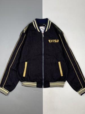Evisu/福神 21Fw 老虎及小海鸥刺绣牛仔飞行员夹克外套