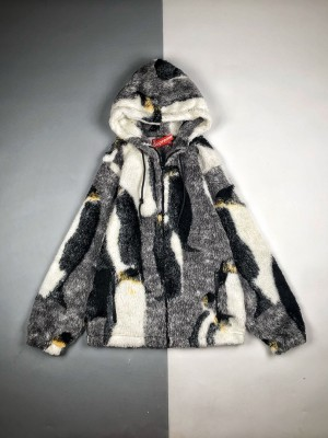 Supreme 20FW Penguins Hooded Fleece企鹅摇粒绒外套