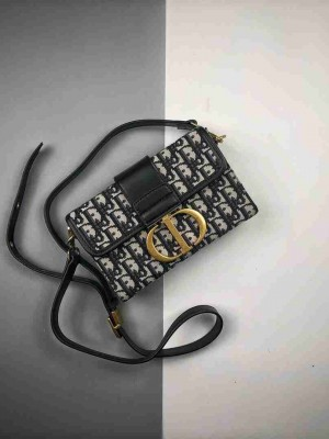 Dior/迪奥 19Fw 30 Montaigne提花刺绣帆布单肩包