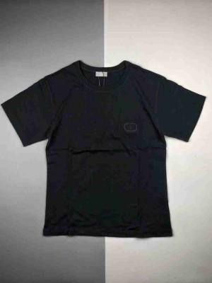 Dior 20ss CD刺绣黑色短袖