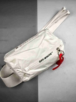 OFF WHITE 尼龙腰包 两色单肩包