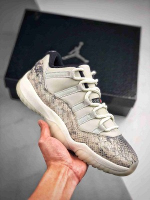 "Air Jordan 11 Low SE ""Snakeskin"" 白蛇"